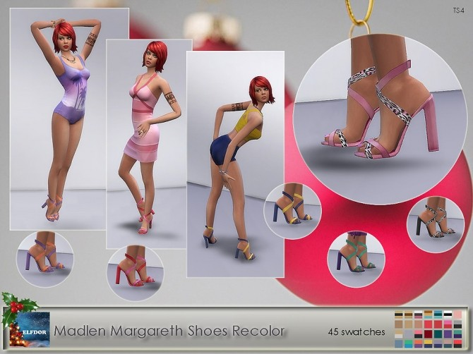 Sims 4 Madlen Margareth Shoes Recolor at Elfdor Sims