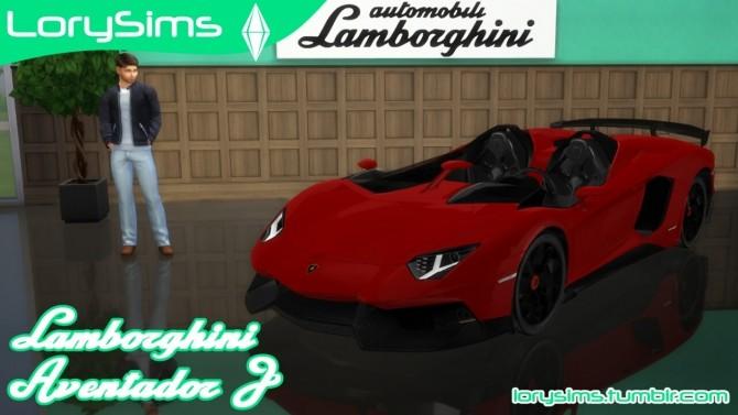 Lamborghini Aventador J at LorySims image 797 670x377 Sims 4 Updates