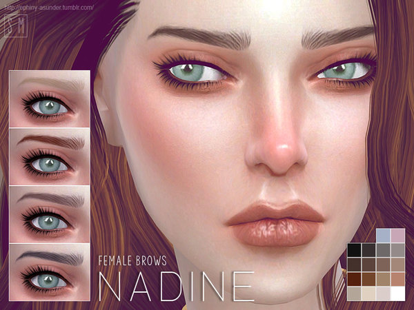 Nadine Female Brows by Screaming Mustard at TSR image 8103 Sims 4 Updates