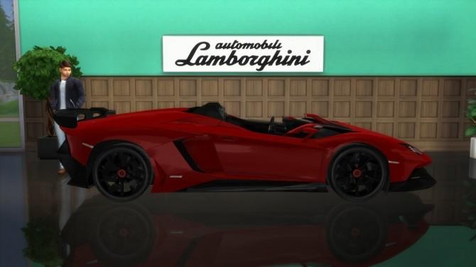 Lamborghini Aventador J at LorySims image 8111 670x377 Sims 4 Updates