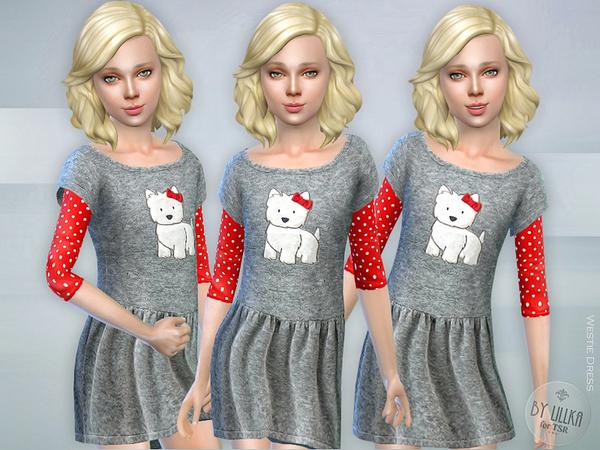 Sims 4 Westie Dress by lillka at TSR
