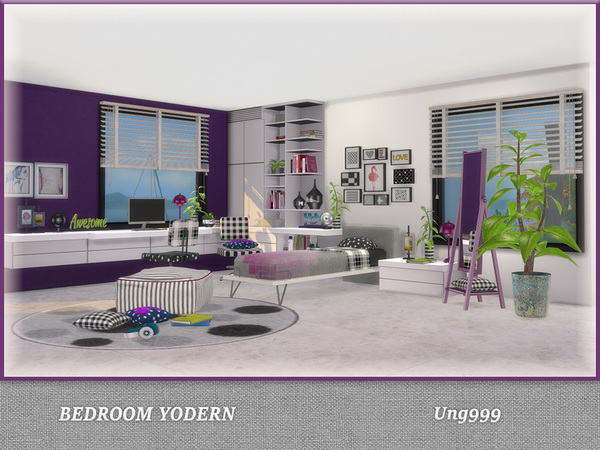 Bedroom Yodern by ung999 at TSR image 819 Sims 4 Updates