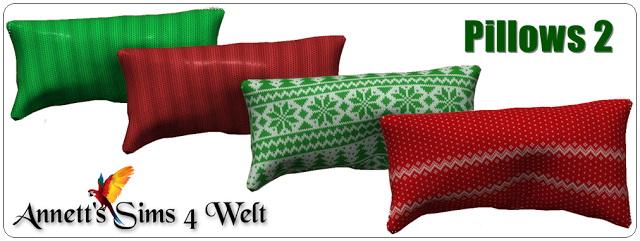 Sims 4 Christmas Pillows at Annett's Sims 4 Welt