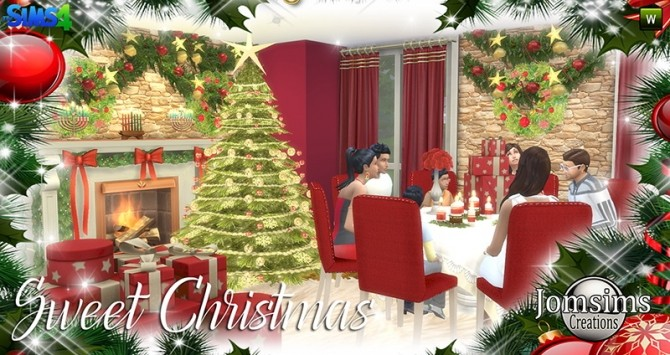 Sweet Christmas Dining Set at Jomsims Creations image 8411 670x355 Sims 4 Updates