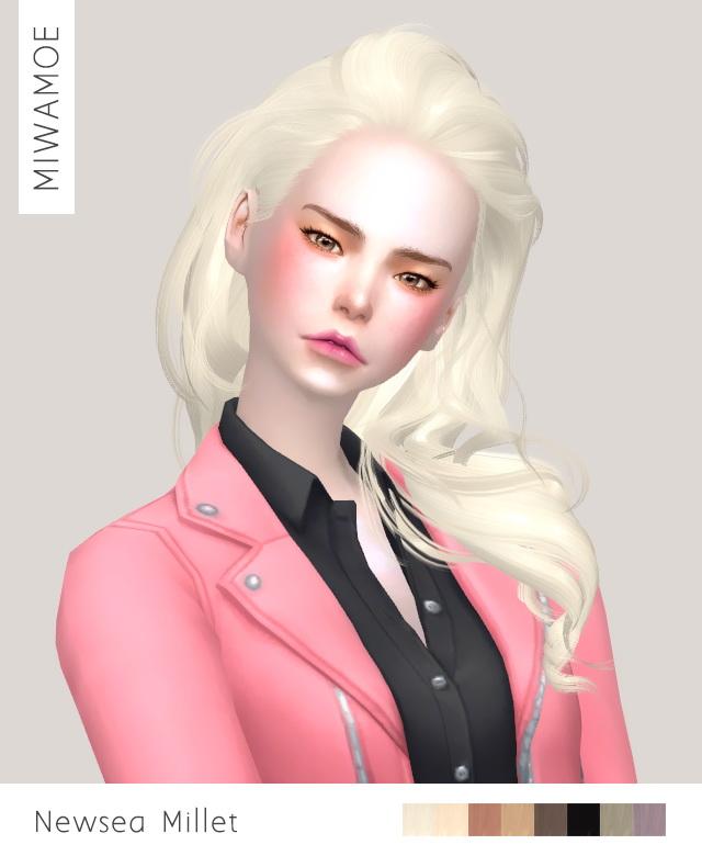 Newseas Millet hair retexture at Miwamoe image 843 Sims 4 Updates
