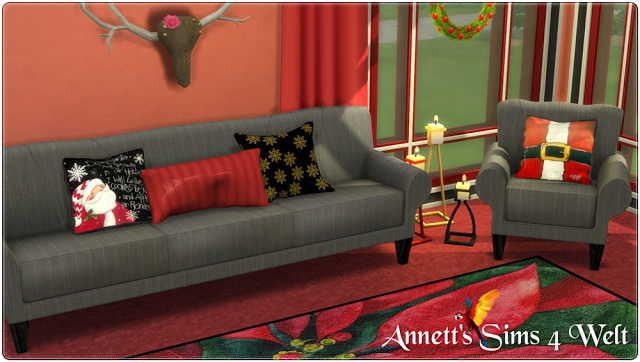 Sims 4 Christmas Pillows at Annett's Sims 4 Welt