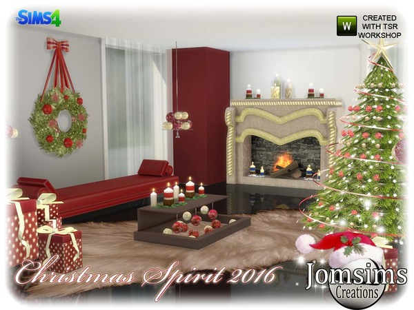 Christmas spirit 2016 set by jomsims at TSR image 850 Sims 4 Updates