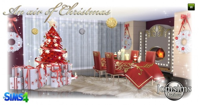 Air of christmas 2016 set at Jomsims Creations image 852 670x355 Sims 4 Updates