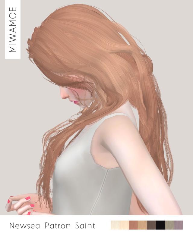 Newseas Patron Saint hair retexture at Miwamoe image 853 Sims 4 Updates