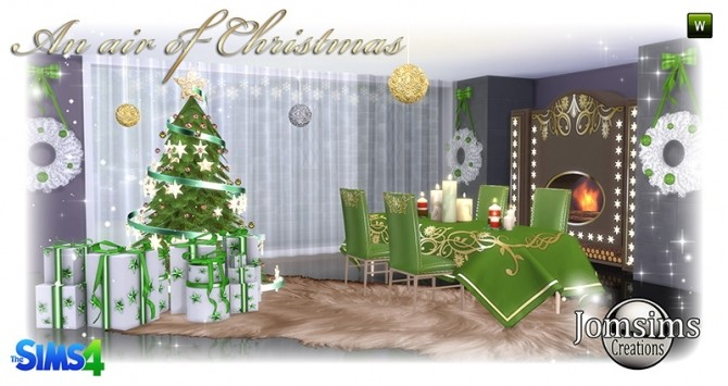 Air of christmas 2016 set at Jomsims Creations image 862 670x355 Sims 4 Updates