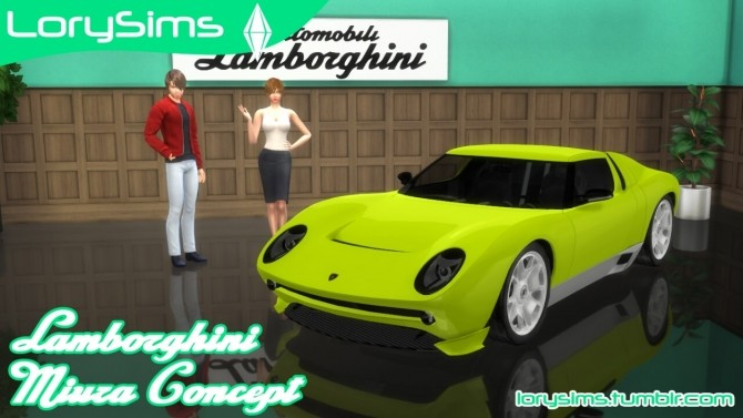 Lamborghini Miura Concept at LorySims image 867 670x377 Sims 4 Updates
