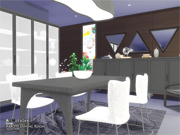 Abbott Dining Room by ArtVitalex at TSR image 890 Sims 4 Updates