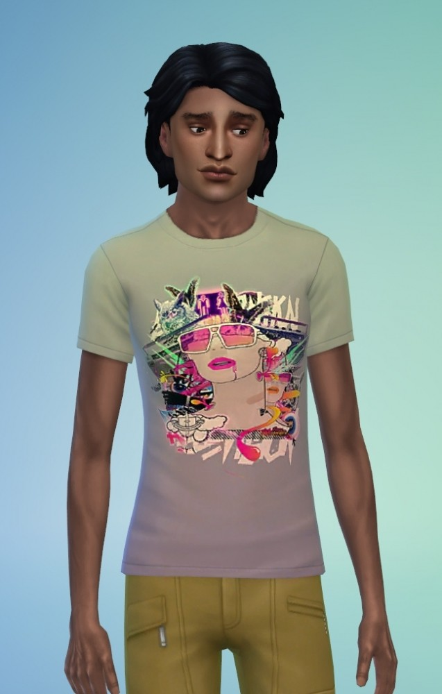 Sims 4 Retro t shirts by Delise at Sims Artists