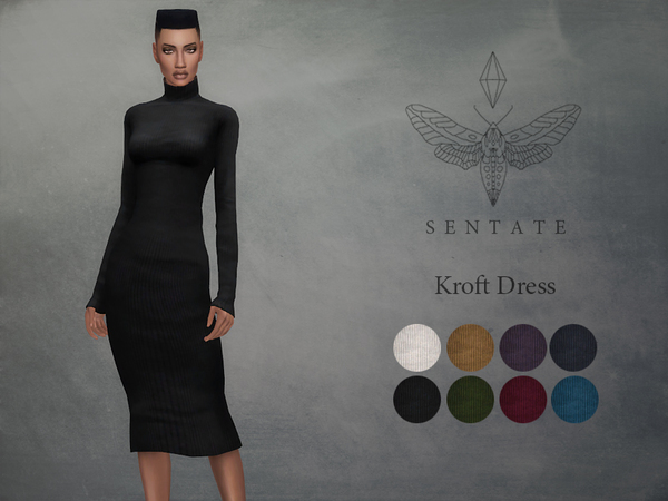 Sims 4 Kroft Dress by Sentate at TSR