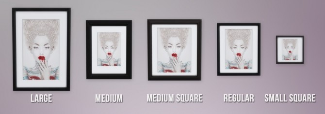Sims 4 Giulio Rossi Collection Society6 Framed Prints at Busted Pixels