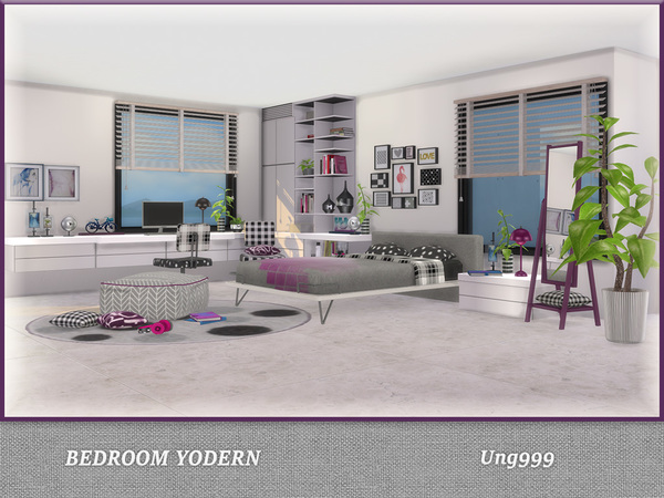 Bedroom Yodern by ung999 at TSR image 920 Sims 4 Updates