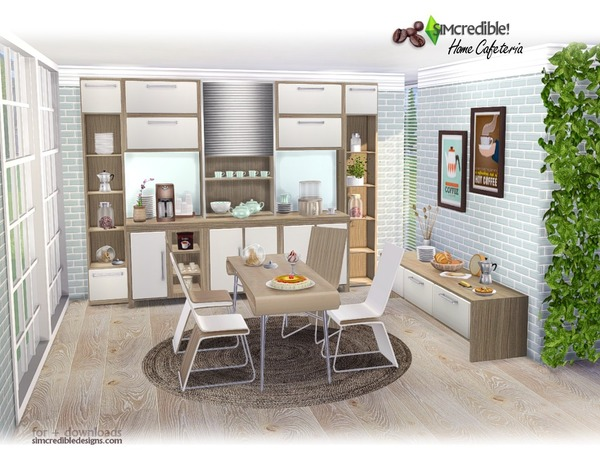 Home Cafeteria By Simcredible At Tsr 187 Sims 4 Updates