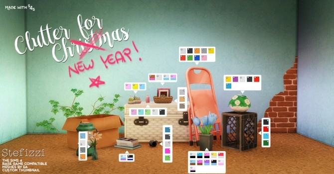 Sims 4 CLUTTER FOR CHRISTMAS at Stefizzi