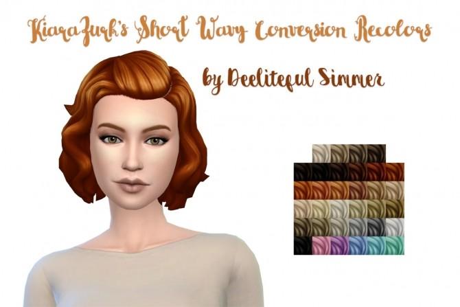 Kiarazurk S Short Wavy Conversion Hair At Deeliteful Simmer Sims 4 Updates