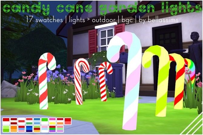 Candy cane garden lights at Bellassims image 963 670x447 Sims 4 Updates