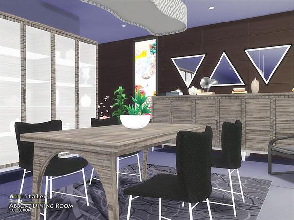 Abbott Dining Room by ArtVitalex at TSR image 970 Sims 4 Updates