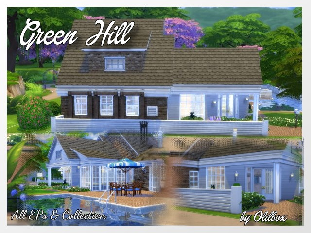 Green Hill house by Oldbox at All 4 Sims image 9714 Sims 4 Updates