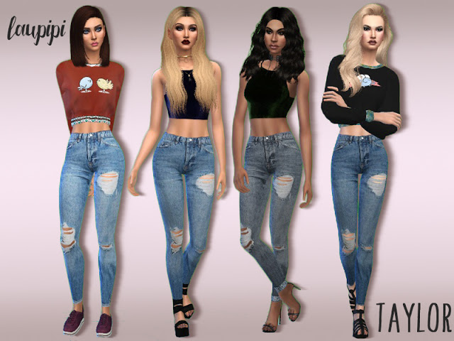 Taylor high waisted jeans at Laupipi image 9717 Sims 4 Updates