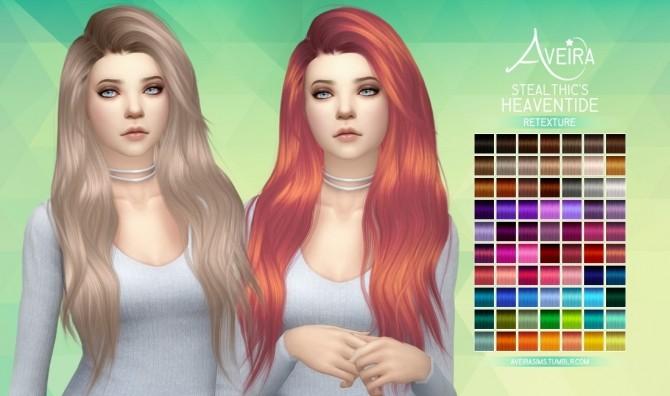 Sims 4 Stealthic's Heaventide Hair Retexture at Aveira Sims 4