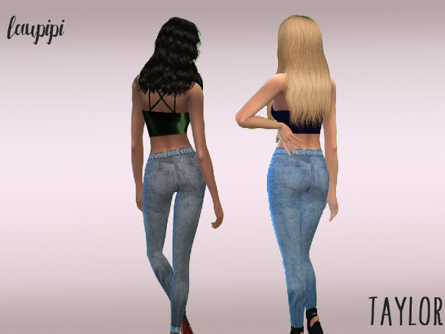Sims 4 Taylor high waisted jeans at Laupipi