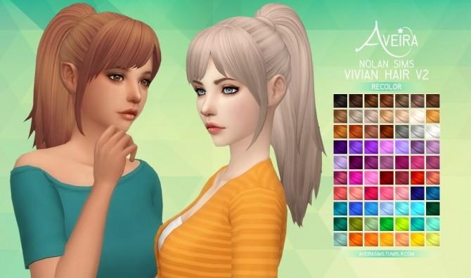 NolanSims Vivian Hair V2 Recolor at Aveira Sims 4 image 984 670x396 Sims 4 Updates