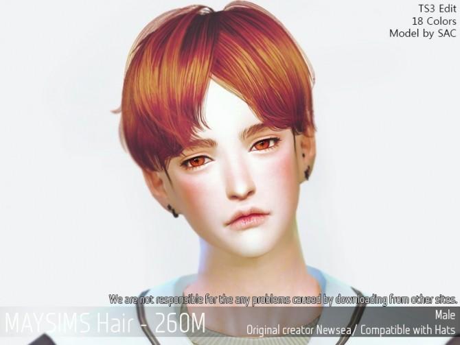 Sims 4 Hair 260M (Newsea) at May Sims