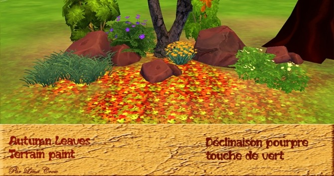 Sims 4 Autumn Leaves by Léna Crow at Sims Artists