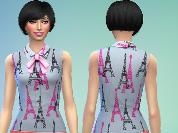 Get Together Bow Shirt Recolor by jay416 at TSR image 990 Sims 4 Updates