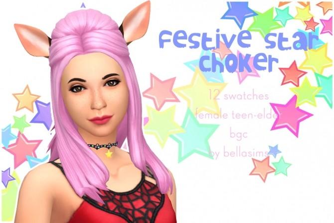 Sims 4 Festive Star choker at Bellassims
