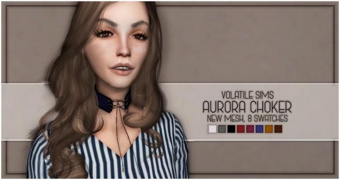 Sims 4 AURORA CHOKER at Volatile Sims