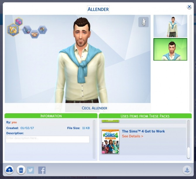 Sims 4 Cecil Allender (No CC) by Vesuvius at Mod The Sims