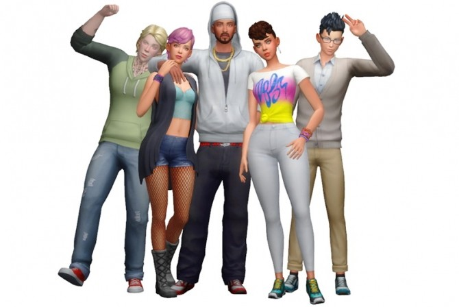 Group Poses #01 at Rinvalee image 1004 670x448 Sims 4 Updates