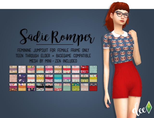 Mini Zens Sadie Romper at Deetron Sims image 1005 Sims 4 Updates