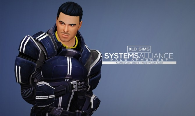 Mass Effect Armor Kaidan Systems Alliance Male Armors by Xld Sims at SimsWorkshop image 1008 670x400 Sims 4 Updates