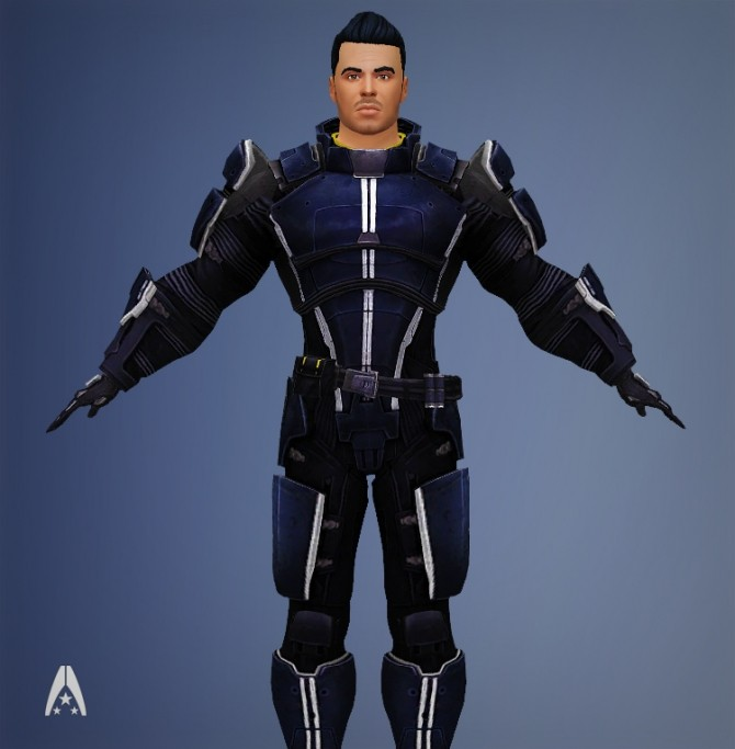 Mass Effect Armor Kaidan Systems Alliance Male Armors by Xld Sims at SimsWorkshop image 10112 670x683 Sims 4 Updates