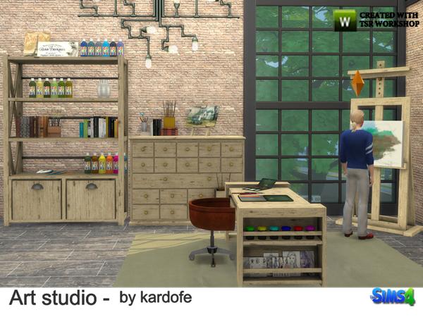 Art studio by kardofe at TSR image 1013 Sims 4 Updates