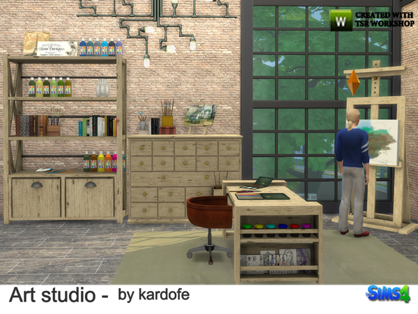 Art studio by kardofe at TSR image 1013 Sims 4 Updates