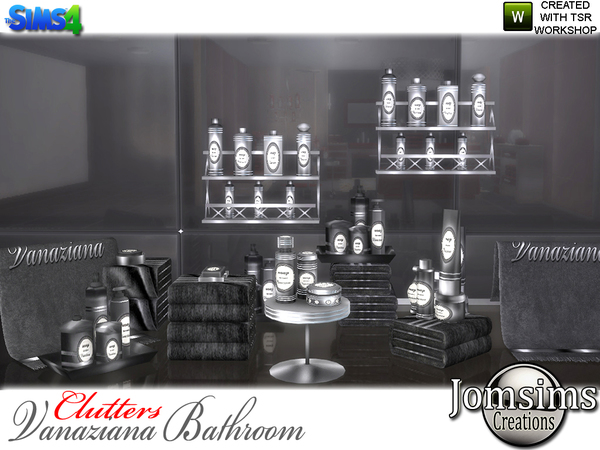 Vanaziana bathroom clutters by jomsims at TSR image 1015 Sims 4 Updates