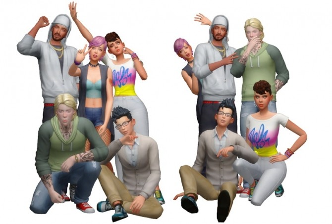 Group Poses #01 at Rinvalee image 1016 670x453 Sims 4 Updates