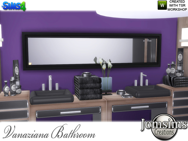 Vanaziana bathroom by jomsims at TSR image 1017 Sims 4 Updates