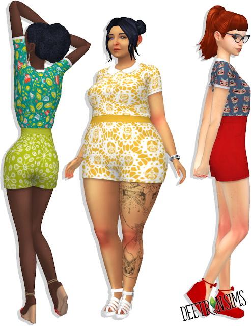 Mini Zens Sadie Romper at Deetron Sims image 1018 Sims 4 Updates