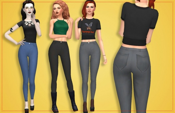 Dorothy Jeans by Annabellee25 at SimsWorkshop image 10218 670x433 Sims 4 Updates