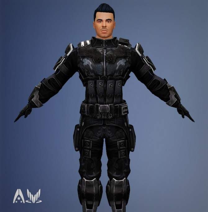 Mass Effect Armor Kaidan Systems Alliance Male Armors by Xld Sims at SimsWorkshop image 1028 670x683 Sims 4 Updates