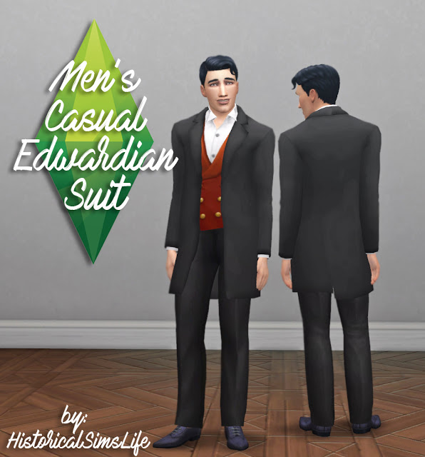 Mens Casual Edwardian Suit at Historical Sims Life image 10314 Sims 4 Updates