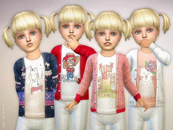 Cardigan for Toddler Girls P01 at TSR image 1040 Sims 4 Updates